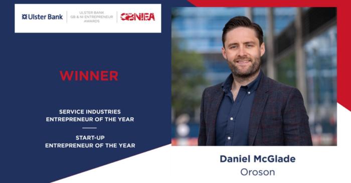 Daniel McGlade double winner at Great British & Northern Irish Entrepreneur Awards